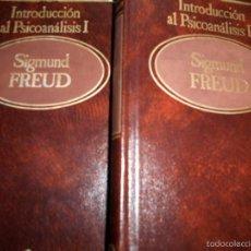 Libros de segunda mano: DOS TOMOS DE SIGMUN FREUD SOBRE EL PSICOANALISIS. Lote 55935062