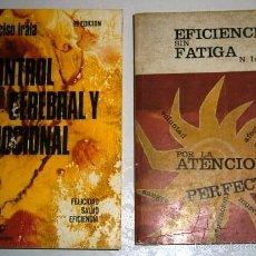 Libros de segunda mano: CONTROL CEREBRAL Y EMOCIONAL / EFICIENCIA SIN FATIGA 2T POR NARCISO IRALA DE ED. MENSAJERO DE BILBAO. Lote 56158034