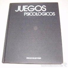 Libros de segunda mano: NICOLA ALBERTO DE CARLO. JUEGOS PSICOLÓGICOS. RM74385. . Lote 56528619