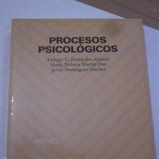Libros de segunda mano: PROCESOS PSICOLÓGICOS.FERNANDEZ ABASCAL-MARTIN DIAZ-DOMINGUEZ SANCHEZ.. Lote 151984025