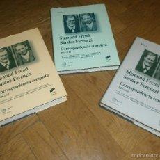 Libros de segunda mano: SIGMUND FREUD-SÁNDOR FERENCZI CORRESPONDENCIA COMPLETA 1908-1911. TRES VOLÚMENES. PSICOANÁLISIS. Lote 56660570