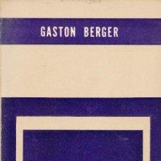Libros de segunda mano: GASTON BERGER. CARACTER Y PERSONALIDAD. PAIDOS, BUENOS AIRES 1961.. Lote 56726226