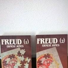 Libros de segunda mano: FREUD. ERNEST JONES. LOTE DE DOS LIBROS.SALVAT.MUY BUEN ESTADO.. Lote 57275335