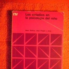Libros de segunda mano: H. WALLON, J. PIAGET Y OTROS: - LOS ESTADIOS EN LA PSICOLOGIA DEL NIÑO - (BUENOS AIRES, 1976). Lote 57392091
