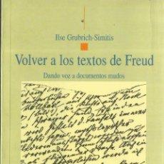 Libros de segunda mano: VOLVER A LOS TIEMPOS DE FREUD. ILSE GRUBICH-SIMITIS. BIBLIOTECA NUEVA. MADRID. 2005. Lote 57429057