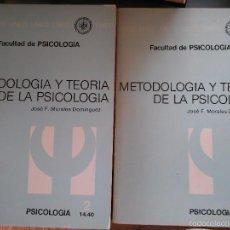 Libros de segunda mano: METODOLOGÍA Y TEORÍA DE LA PSICOLOGÍA. JOSÉ F. MORALES DOMÍNGUEZ. UNED. 1984. Lote 57556265