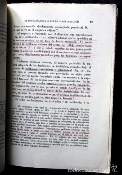 Libros de segunda mano: EL PSICOANALISIS A LA LUZ DE LA REFLEXOLOGIA - K. GAVRILOV - 1953 - PAIDOS - BUENOS AIRES - Foto 5 - 57735273