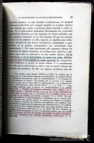 Libros de segunda mano: EL PSICOANALISIS A LA LUZ DE LA REFLEXOLOGIA - K. GAVRILOV - 1953 - PAIDOS - BUENOS AIRES - Foto 6 - 57735273