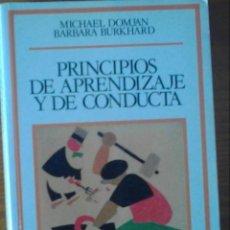 Libros de segunda mano: PRINCIPIOS DE APRENDIZAJE Y DE CONDUCTA.. Lote 58501374