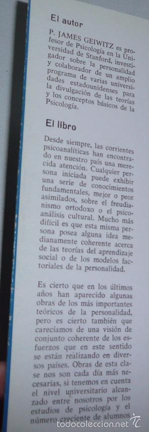 Libros de segunda mano: Teorías no freudianas de la personalidad - James Geiwitz (Ediciones Marova, 1977) - Foto 2 - 58198712