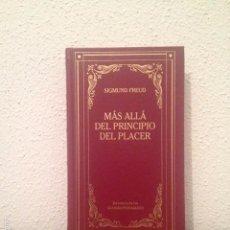 Libros de segunda mano: SIGMUND FREUD: MÁS ALLÁ DEL PRINCIPIO DEL PLACER Y OTROS ENSAYOS. Lote 58532231