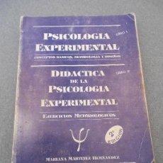 Libros de segunda mano: PSICOLOGIA EXPERIMENTAL. Lote 63652875