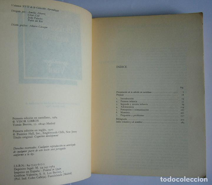 Libros de segunda mano: EL DESARROLLO COGNITIVO - JOHN H. FLAVELL - Foto 2 - 65019663