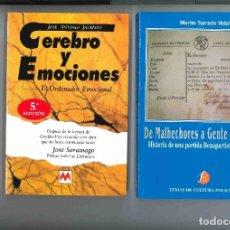 Libros de segunda mano: CEREBRO Y EMOCIONES. EL ONDENADOR EMOCIONAL. DE JOSÉ ANTONIO JAUREGUI.. Lote 65849886