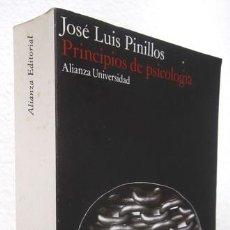Libros de segunda mano: PINILLOS, JOSÉ LUIS: PRINCIPIOS DE PSICOLOGÍA (ALIANZA) (CB). Lote 69115805