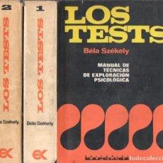 Libros de segunda mano: SZEKELY : LOS TESTS - TÉCNICAS DE EXPLORACIÓN PSICOLÓGICA (KAPELUSZ, 1955) DOS TOMOS. Lote 67927693