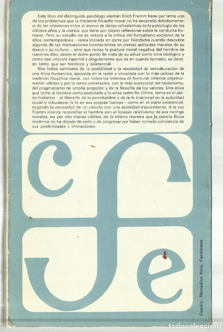 Libros de segunda mano: ÉTICA Y PSICOANÁLISIS. ERICH FROMM. FONDO DE CULTURA. MÉXICO. 1981 - Foto 3 - 68720665