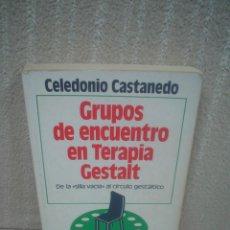 Libros de segunda mano: CELEDONIO CASTANEDO: GRUPOS DE ENCUENTRO EN TERAPIA GESTALT. DE LA SILLA VACÍA AL CÍRCULO GESTÁLTICO. Lote 98196618