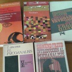 Libros de segunda mano: LOTE CINCO LIBROS SOBRE FREUD, PSICOANÁLISIS Y PSICOLOGÍA. Lote 70211441