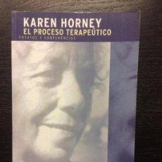 Libros de segunda mano: EL PROCESO TERAPEUTICO, KAREN HORNEY. Lote 74178371