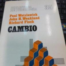 Libros de segunda mano: CAMBIO VV.AA EDIT HERDER AÑO 1986. Lote 74404959
