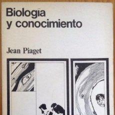 Libros de segunda mano: BIOLOGÍA Y CONOCIMIENTO. JEAN PIAGET.. Lote 76910315