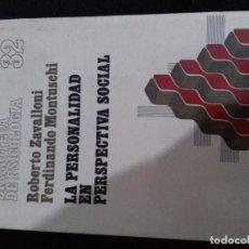 Libros de segunda mano - LA PERSONALIDAD EN PERSPECTIVA SOCIAL Roberto Zavalloni-Ferdinando Montuschi-HERDER - 77258233