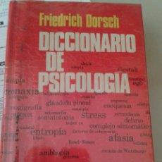 Libros de segunda mano: DICCIONARIO DE PSICOLOGÍA. FRIEDICH DORSCH. Lote 80078561