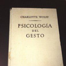 Libros de segunda mano: PSICOLOGIA DEL GESTO. Lote 81038246