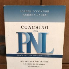Libros de segunda mano: COACHING CON PROGRAMACIÓN NEUROLINGUISTICA. Lote 82180387