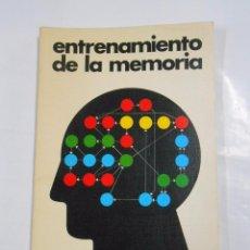 Libros de segunda mano: ENTRENAMIENTO DE LA MEMORIA. - JÜCHTER, H. TH. TDK133. Lote 82773880