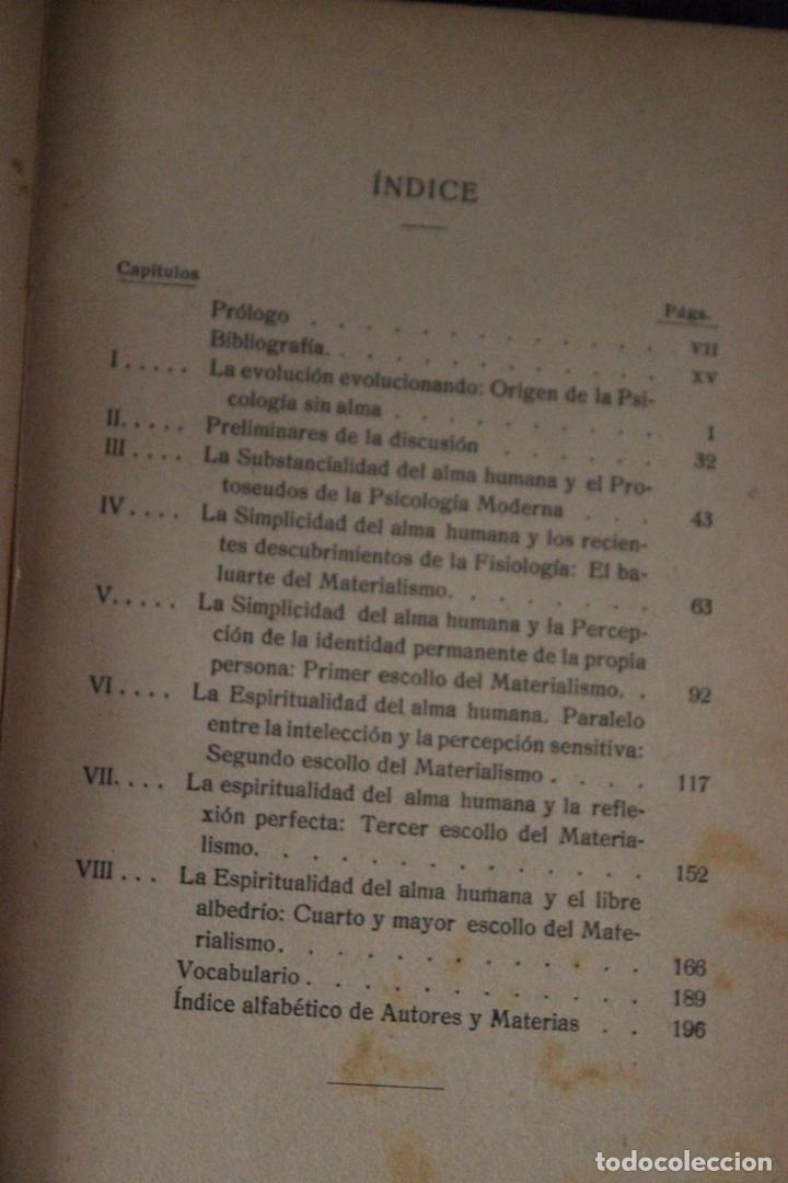 Libros de segunda mano: Psicología sín alma-H. Gruender-1917-obra crítica traducida del inglés por el P. Dionisio Dominguez - Foto 6 - 83555448