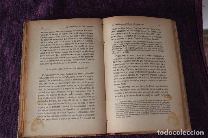 Libros de segunda mano: Psicología sín alma-H. Gruender-1917-obra crítica traducida del inglés por el P. Dionisio Dominguez - Foto 7 - 83555448