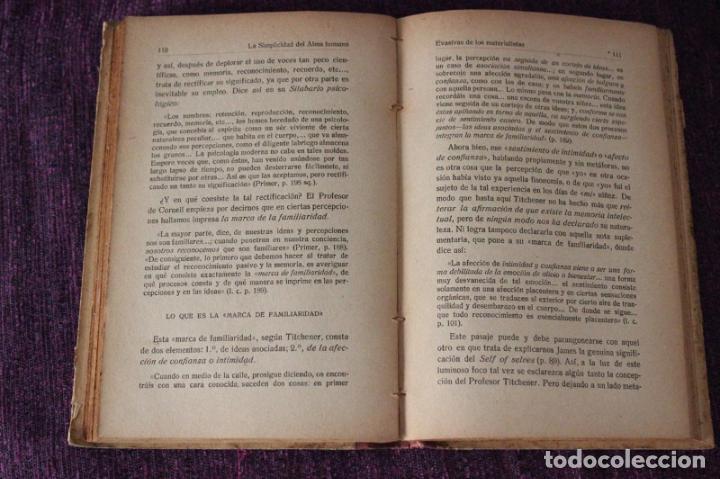 Libros de segunda mano: Psicología sín alma-H. Gruender-1917-obra crítica traducida del inglés por el P. Dionisio Dominguez - Foto 8 - 83555448
