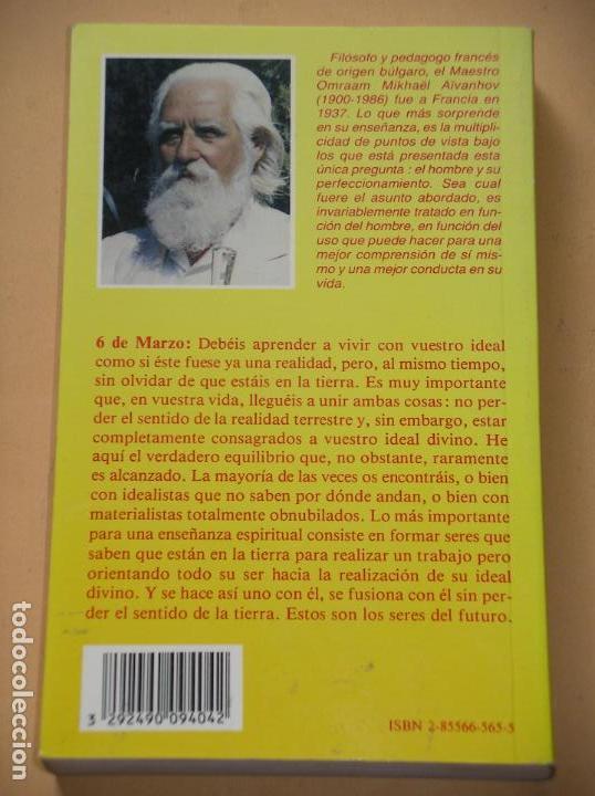 Libros de segunda mano: Pensamientos cotidianos, Omraam Mikhael Aivanhov, ed. Prosveta, año 1994, superación ercom c1 - Foto 2 - 85288596
