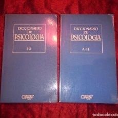 Libros de segunda mano: DICCIONARIO DE PSICOLOGIA - 2 TOMOS. Lote 85522152