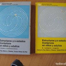 Libros de segunda mano: ESTRUCTURAS Y/O ESTADOS FRONTERIZOS EN NIÑOS Y ADULTOS.- TOMO II - III.- EDICIONES NUEVA VISIÓN. Lote 85783724