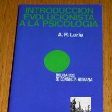 Libros de segunda mano: INTRODUCCIÓN EVOLUCIONISTA A LA PSICOLOGÍA - A. R. LURIA MARTÍNEZ ROCA BREVIARIOS DE CONDUCTA HUMANA. Lote 109304952