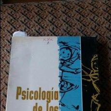 Libros de segunda mano: PSICOLOGIA DE LOS JUEGOS INFANTILES. JEAN CHATEAU. KAPELUSZ 1958. Lote 88105400