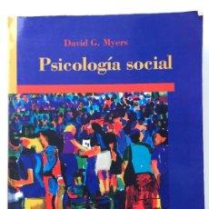 Libros de segunda mano: PSICOLOGÍA SOCIAL - DAVID G. MYERS - MCGRAW HILL - EN BUEN ESTADO. Lote 89215192