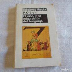 Libros de segunda mano: EL NIÑO Y LA ADQUISICIÓN DEL LENGUAJE. Lote 90084432