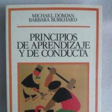 Libros de segunda mano: PRINCIPIOS DE APRENDIZAJE Y DE CONDUCTA (M. DOMJAN / B. BURKHARD). Lote 90230732