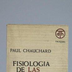 Libros de segunda mano: FISIOLOGIA DE LAS COSTUMBRES. PAUL CHAUCHARD. Lote 90239380