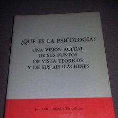 Libros de segunda mano: ¿QUE ES LA PSICOLOGIA? PUNTOS DE VISTA TEORICOS Y SUS APLICACIONES J. L. FDEZ TRESPALACIOS REF 180 . Lote 90713150