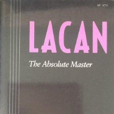 Libros de segunda mano: LACAN. THE ABSOLUTE MASTER. Lote 91096000