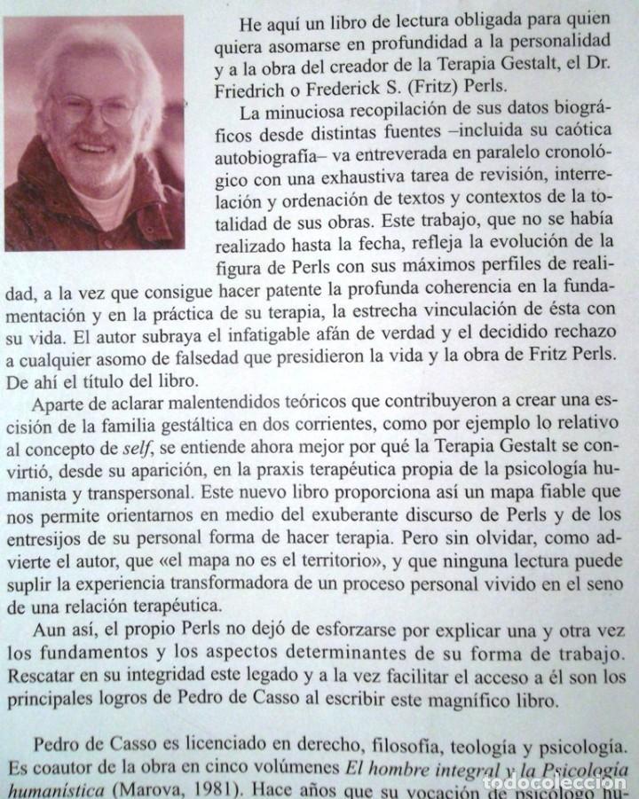 Libros de segunda mano: Gestalt, terapia de autenticidad La vida y la obra de Fritz Perls 2003 Pedro de Casso 1a ed Kairós - Foto 2 - 91378015