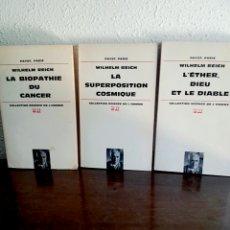 Libros de segunda mano: LOTE 3 LIBROS WILHELM REICH - PSICOANÁLISIS, ORGONOMIA, ORGÓN, PSICOLOGIA, MARXISMO, COMUNISMO. Lote 91724662