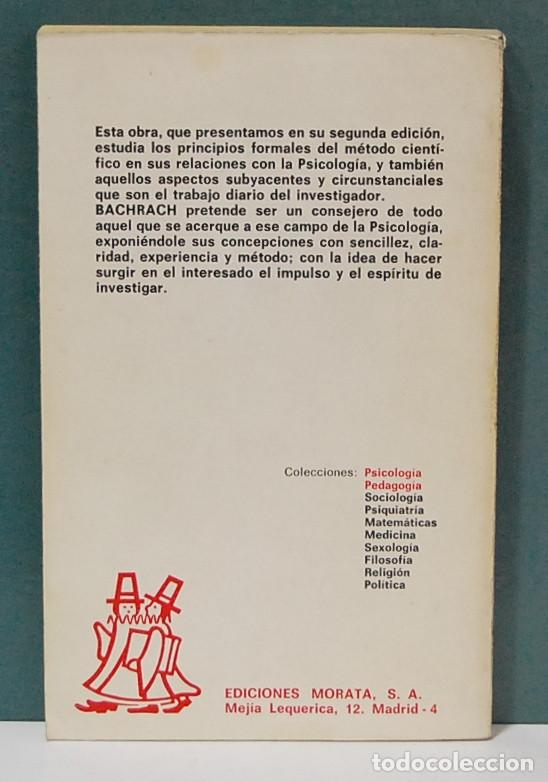 Libros de segunda mano: LMV - Cómo investigar en psicología. A. J. Bachrach - Foto 2 - 92794540