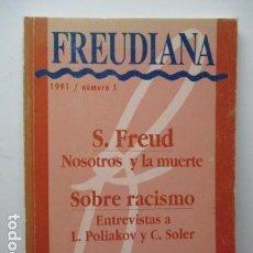 Libros de segunda mano: FREUDIANA - Nº 1 - 1991. Lote 92837085