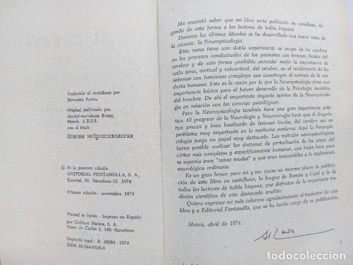 Libros de segunda mano: EL CEREBRO EN ACCION ALEKSANDER ROMANOVICH LURIA, ED. FONTANELLA 1974 Nº 21. CONDUCTA HUMANA - Foto 4 - 119863495